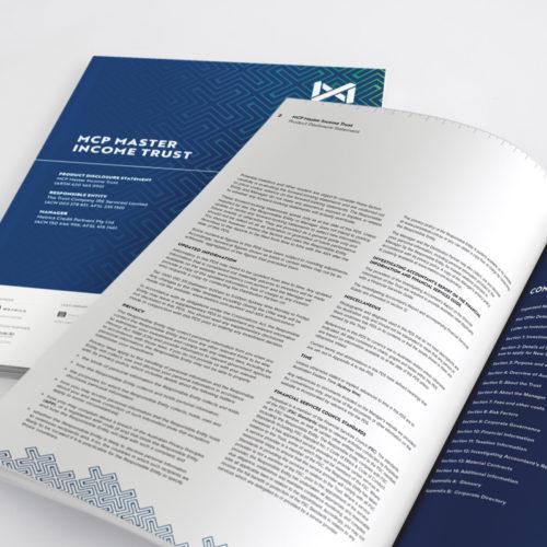 MCP Master Income Trust Annual Report Design