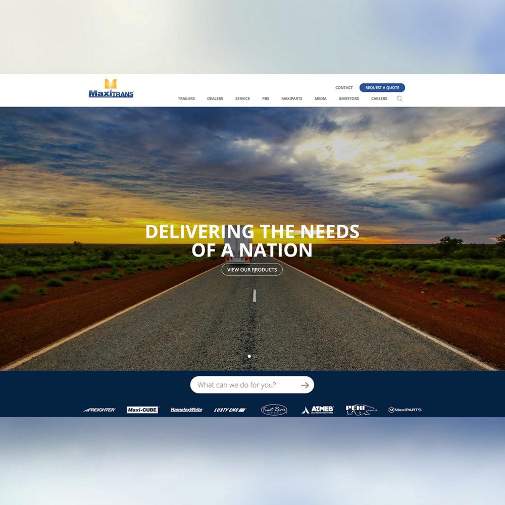 MaxiTRANS Website Design