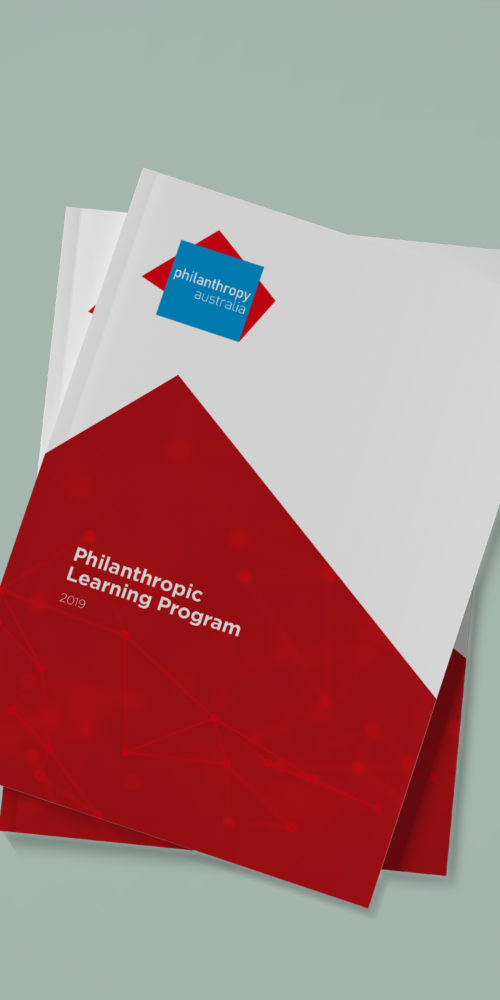 Philanthropy Australia Brochure Design